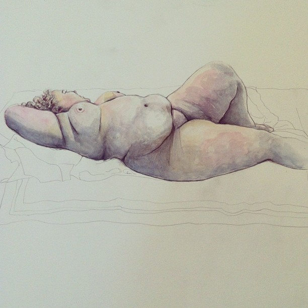 Finished life drawing